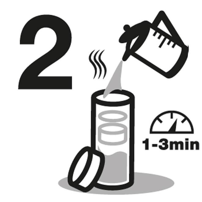 Instrucción de Vasos de agua 2